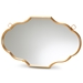 Baxton Studio Dennis Vintage Antique Gold Finished Accent Wall Mirror - IERXW-8059