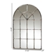 Baxton Studio Newman Vintage Farmhouse Antique Silver Finished Arched Window Accent Wall Mirror - IERTB1358-2