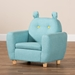 Baxton Studio Gloria Modern and Contemporary Sky Blue Fabric Upholstered Kids Armchair with Animal Ears - IELD-2308-Blue-CC