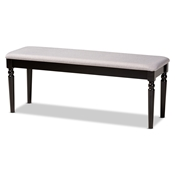Baxton Studio Giovanni Modern and Contemporary Grey Fabric Upholstered and Dark Brown Finished Wood Dining Bench