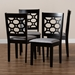 Baxton Studio Peter Modern and Contemporary Grey Fabric Upholstered and Dark Brown Finished Wood 4-Piece Dining Chair Set - IERH335C-Grey/Dark Brown-DC-4PK