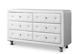 Baxton Studio Luminescence Wood Contemporary White Upholstered Dresser Baxton Studio Luminescence Wood Contemporary White Upholstered Dresser, FurnitureBedroom Furniture