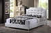Baxton Studio Carlotta White Modern Bed with Upholstered Headboard - Full Size