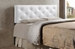 Baxton Studio Bedford White Queen Sized Headboard - IEBBT6431-White-HB-Queen