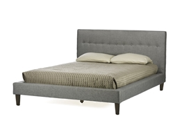 Baxton Studio Callasandra Contemporary Grey Linen King-Size Bed Baxton StudioCallasandra Contemporary Grey Linen King-Size Bed, FurnitureBedroom Furniture