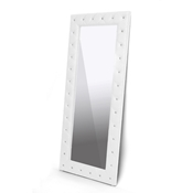 Baxton Studio Stella Crystal Tufted White Modern Floor Mirror Stella Crystal Tufted White Modern Floor Mirror, IEBBTM27-White-Mirror, best price on Stella Crystal Tufted White Modern Floor Mirror, discount Stella Crystal Tufted White Modern Floor Mirror, cheap Stella Crystal Tufted White Modern Floor Mirror