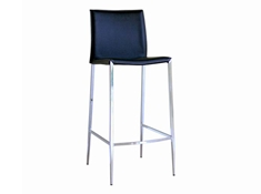 New York Black Leather Bar Height Bar Stool 30 (set of 2)