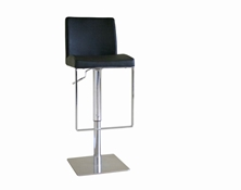 Bar Stool-Adjustable Height-Dallas Leather Black