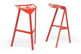 Baxton Studio Kaysa Red Aluminum Modern Bar Stool (Set of 2) Baxton Studio Kaysa Red Aluminum Modern Bar Stool, IEBS-363-Red, compare Baxton Studio Kaysa Red Aluminum Modern Bar Stool, best price on Baxton Studio Kaysa Red Aluminum Modern Bar Stool, discount Baxton Studio Kaysa Red Aluminum Modern Bar Stool, cheap Baxton Studio Kaysa Red Aluminum Modern Bar Stool