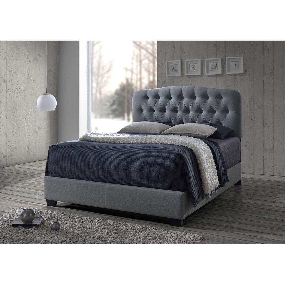 baxton studio romeo contemporary grey button tufted. Black Bedroom Furniture Sets. Home Design Ideas
