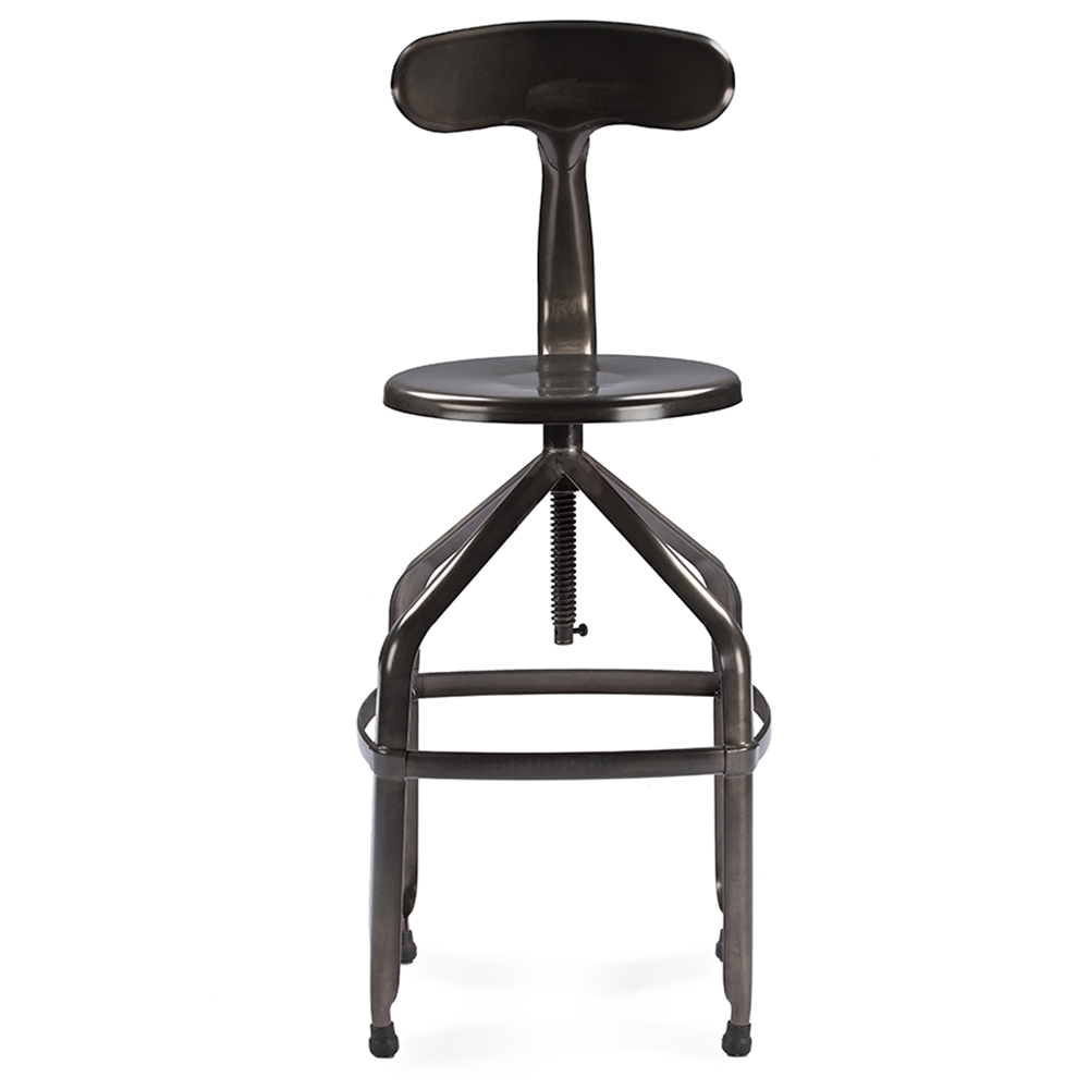 Baxton Studio Architect S Industrial Bar Stool With