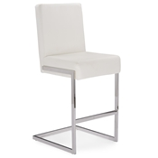 Baxton Studio Toulan Modern and Contemporary White Faux Leather Upholstered Stainless Steel Counter Stool (Set of 2) Baxton Studio Toulan Modern and Contemporary White  Faux Leather Upholstered Stainless Steel Barstool (Set of 2), GY-BC180715 White, compare Baxton Studio Toulan Modern and Contemporary White  Faux Leather Upholstered Stainless Steel Barstool (Set of 2), discount Baxton Studio Toulan Modern and Contemporary White  Faux Leather Upholstered Stainless Steel Barstool (Set of 2), cheap Baxton Studio Toulan Modern and Contemporary White  Faux Leather Upholstered Stainless Steel Barstool (Set of 2)