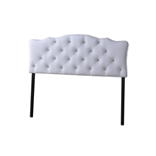 Baxton Studio Rita Modern and Contemporary Queen Size White Faux Leather Upholstered Button-tufted Scalloped Headboard Baxton Studio Rita Modern and Contemporary Queen Size White Faux Leather Upholstered Button-tufted Scalloped Headboard , wholesale furniture, restaurant furniture, hotel furniture, commercial furniture