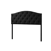 Baxton Studio Myra Modern and Contemporary Full Size Black Faux Leather Upholstered Button-tufted Scalloped Headboard Baxton Studio Myra Modern and Contemporary Full Size Black Faux Leather Upholstered Button-tufted Scalloped Headboard , wholesale furniture, restaurant furniture, hotel furniture, commercial furniture