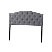 Baxton Studio Myra Modern and Contemporary Full Size Grey Fabric Upholstered Button-tufted Scalloped Headboard Baxton Studio Myra Modern and Contemporary Full Size Grey Fabric Upholstered Button-tufted Scalloped Headboard , wholesale furniture, restaurant furniture, hotel furniture, commercial furniture