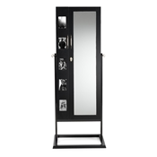 Baxton Studio Vittoria Black Finish Wood Square Foot Floor Standing Double Door Storage Jewelry Armoire Cabinet Baxton Studio Vittoria Black Finish Wood Square Foot Floor Standing Double Door Storage Jewelry Armoire Cabinet , wholesale furniture, restaurant furniture, hotel furniture, commercial furniture