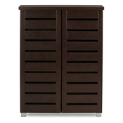 Baxton Studio Adalwin Modern and Contemporary 2-Door Dark Brown Wooden Entryway Shoes Storage Cabinet Baxton Studio Adalwin Modern and Contemporary 2-Door Dark Brown Wooden Entryway Shoes Storage Cabinet , wholesale furniture, restaurant furniture, hotel furniture, commercial furniture
