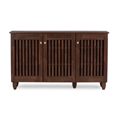 Baxton Studio Fernanda Modern and Contemporary 3-Door Oak Brown Wooden Entryway Shoes Storage Wide Cabinet Baxton Studio Fernanda Modern and Contemporary 3-Door Oak Brown Wooden Entryway Shoes Storage Wide Cabinet , wholesale furniture, restaurant furniture, hotel furniture, commercial furniture