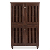 Baxton Studio Fernanda Modern and Contemporary 4-Door Oak Brown Wooden Entryway Shoes Storage Tall Cabinet Baxton Studio Fernanda Modern and Contemporary 4-Door Oak Brown Wooden Entryway Shoes Storage Tall Cabinet , wholesale furniture, restaurant furniture, hotel furniture, commercial furniture