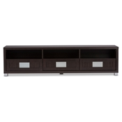 Baxton Studio Gerhardine Dark Brown Wood 63-Inch TV Cabinet with 3-drawer Baxton Studio Gerhardine Dark Brown Wood 63-Inch TV Cabinet with 3-drawer , wholesale furniture, restaurant furniture, hotel furniture, commercial furniture