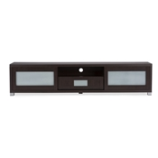 Baxton Studio Gerhardine Dark Brown Wood 70-inch TV Cabinet with 2 Sliding Doors and Drawer Baxton Studio Gerhardine Dark Brown Wood 70-inch TV Cabinet with 2 Sliding Doors and Drawer , wholesale furniture, restaurant furniture, hotel furniture, commercial furniture