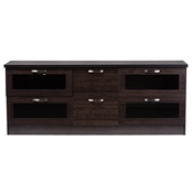 Baxton Studio Adelino 63 Inches Dark Brown Wood TV Cabinet with 4 Glass Doors and 2 Drawers Baxton Studio Adelino 63 Inches Dark Brown Wood TV Cabinet with 4 Glass Doors and 2 Drawers , wholesale furniture, restaurant furniture, hotel furniture, commercial furniture
