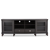 Baxton Studio Walda 70-Inch Dark Brown Wood TV Cabinet with 2 Sliding Doors and 2 Drawers Baxton Studio Walda 70-Inch Dark Brown Wood TV Cabinet with 2 Sliding Doors and 2 Drawers , wholesale furniture, restaurant furniture, hotel furniture, commercial furniture