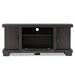 Baxton Studio Viveka 47-Inch Dark Brown Wood TV Cabinet with 2 Doors - IETV838074-Embosse