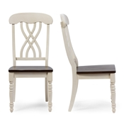 Baxton Studio Newman Chic Country Cottage Antique Oak Wood and Distressed White Dining Side Chair Baxton studio restaurant furniture, hotel furniture, commercial furniture, wholesale dining room furniture, wholesale dining chairs, classic dining chairs, wood chairs