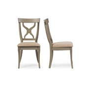 Baxton Studio Balmoral Chic Country Cottage Antique Oak Wood and Distressed Light Grey X-Back Dining Side Chair Baxton Studio restaurant furniture, hotel furniture, commercial furniture, wholesale dining room furniture, wholesale dining chairs, classic dining chairs, wood chairs