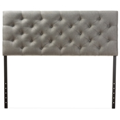 Baxton Studio Viviana Modern and Contemporary Grey Fabric Upholstered Button-tufted Queen Size Headboard Baxton Studio restaurant furniture, hotel furniture, commercial furniture, wholesale bedroom furniture, wholesale headboards, classic headboard