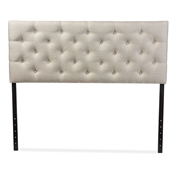 Baxton Studio Viviana Modern and Contemporary Light Beige Fabric Upholstered Button-tufted Queen Size Headboard Baxton Studio restaurant furniture, hotel furniture, commercial furniture, wholesale bedroom furniture, wholesale headboards, classic headboard
