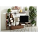 Baxton Studio Haversham Mid-century Retro Modern TV Stand Entertainment Center and Display Unit - IEFP-6784-Walnut-TV