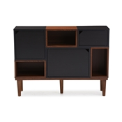 Baxton Studio Anderson Mid-century Retro Modern Oak and Espresso Wood Sideboard Storage Cabinet Baxton Studio restaurant furniture, hotel furniture, commercial furniture, wholesale dining room furniture, wholesale buffets and sideboards, classic buffets and sideboards