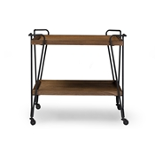 Baxton Studio Rustic Industrial Style Antique Black Textured Finish Metal Distressed Ash Wood Mobile Serving Bar Cart Baxton Studio restaurant furniture, hotel furniture, commercial furniture, wholesale dining room furniture, wholesale wine cabinets, classic wine cabinets