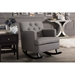 Baxton Studio Bethany Modern and Contemporary Grey Fabric Upholstered Button-tufted Rocking Chair - IEBBT5189-Grey RC