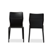 Baxton Studio Asper Modern and Contemporary Black Leather Upholstered Dining Chair - IEALC-1503-Black (set of 2)