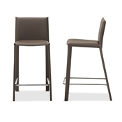 Baxton Studio Crawford Modern and Contemporary Taupe Leather Upholstered Counter Height Stool Baxton Studio restaurant furniture, hotel furniture, commercial furniture, wholesale bar furniture, wholesale bar stools, classic bar stools