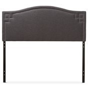Baxton Studio Aubrey Modern and Contemporary Dark Grey Fabric Upholstered Queen Size Headboard Baxton Studio restaurant furniture, hotel furniture, commercial furniture, wholesale bedroom furniture, wholesale headboards, classic queen size headboards