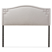 Baxton Studio Aubrey Modern and Contemporary Greyish Beige Fabric Upholstered Queen Size Headboard Baxton Studio restaurant furniture, hotel furniture, commercial furniture, wholesale bedroom furniture, wholesale headboards, classic queen size headboards