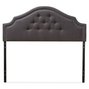 Baxton Studio Cora Modern and Contemporary Dark Grey Fabric Upholstered Queen Size Headboard Baxton Studio restaurant furniture, hotel furniture, commercial furniture, wholesale bedroom furniture, wholesale headboards, classic queen size headboards