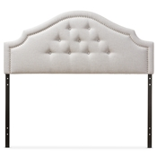 Baxton Studio Cora Modern and Contemporary Greyish Beige Fabric Upholstered Queen Size Headboard Baxton Studio restaurant furniture, hotel furniture, commercial furniture, wholesale bedroom furniture, wholesale headboards, classic queen size headboards