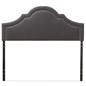 Baxton Studio Rita Modern and Contemporary Dark Grey Fabric Upholstered Queen Size Headboard Baxton Studio restaurant furniture, hotel furniture, commercial furniture, wholesale bedroom furniture, wholesale headboards, classic queen size headboards