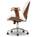 Baxton Studio Rathburn Modern and Contemporary White and Walnut Office Chair - IESD-2235-5 Walnut/White