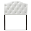 Baxton Studio Myra Modern and Contemporary White Faux Leather Upholstered Button-Tufted Scalloped Twin Size Headboard Baxton Studio restaurant furniture, hotel furniture, commercial furniture, wholesale bedroom furniture, wholesale headboards, classic twin size headboards
