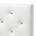 Baxton Studio Viviana Modern and Contemporary White Faux Leather Upholstered Button-Tufted Twin Size Headboard - IEBBT6506-White-Twin HB