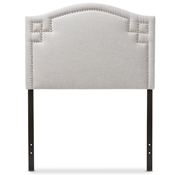 Baxton Studio Aubrey Modern and Contemporary Greyish Beige Fabric Upholstered Twin Size Headboard Baxton Studio restaurant furniture, hotel furniture, commercial furniture, wholesale bedroom furniture, wholesale headboards, classic twin size headboards