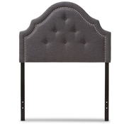 Baxton Studio Cora Modern and Contemporary Dark Grey Fabric Upholstered Twin Size Headboard Baxton Studio restaurant furniture, hotel furniture, commercial furniture, wholesale bedroom furniture, wholesale headboards, classic twin size headboards