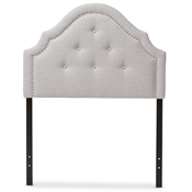 Baxton Studio Cora Modern and Contemporary Greyish Beige Fabric Upholstered Twin Size Headboard Baxton Studio restaurant furniture, hotel furniture, commercial furniture, wholesale bedroom furniture, wholesale headboards, classic twin size headboards