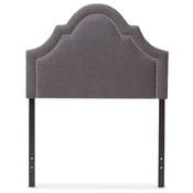 Baxton Studio Rita Modern and Contemporary Dark Grey Fabric Upholstered Twin Size Headboard Baxton Studio restaurant furniture, hotel furniture, commercial furniture, wholesale bedroom furniture, wholesale headboards, classic twin size headboards